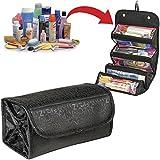 #2: Pindia Black Roll N Go Travel Buddy Toiletry Bag