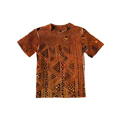 NewStyleUSA- African Tribal Kuba Cloth Triangles -Tagless- Kids Shirt