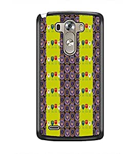PrintDhaba Owl Pattern D-2945 Back Case Cover for LG G3 (Multi-Coloured)