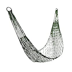 uxcell® Outdoors Comfortable Hanging Rope Hammock - army green,