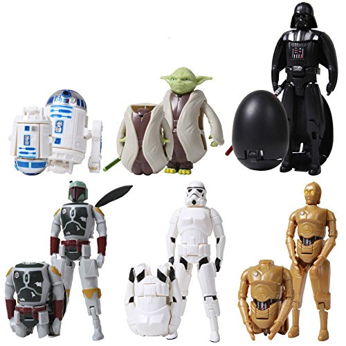 6pcs/set cute deformable The Force Awakens egg Figures Toy Darth Vader & STORM TROOPER&Bounty hunter&R2D2&C-3PO Variable fugures (Avengers Marvel Nesting Dolls compare prices)