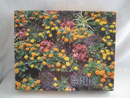 "1998 Merrigold Press "" Flower Garden, Chartres France "" Jigsaw Puzzle - 500 Pieces"