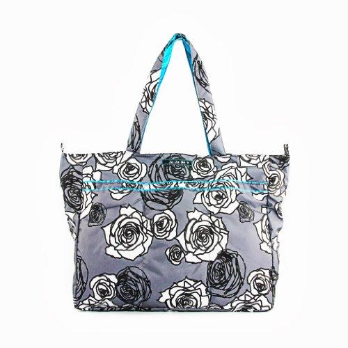 Ju-Ju-Be Super Be Zippered Tote Diaper Bag, Charcoal Roses - 1