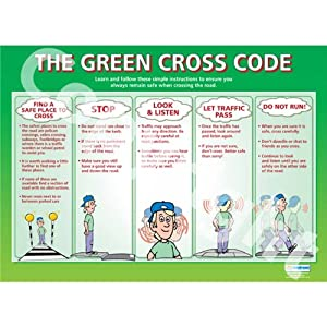 The Green Cross Code Pshe Educational Wall Chart Poster