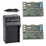 DSTE 2pcs EN-EL3E Li-ion Battery + Charger DC11 for Nikon D30 D50 D70 D70S D90 D80 D100 D200 D300 D300S D700 Digital SLR Camera
