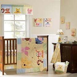 Disney Baby Peeking Pooh & Friends 7-Piece Crib Set