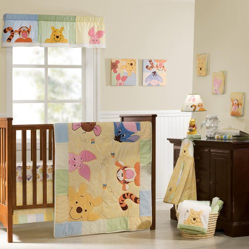 Disney Baby Peeking Pooh & Friends 7-Piece Crib Set