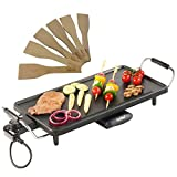 VonShef Electric Large Teppanyaki Style Barbecue Table Grill Griddle 2000 Watts