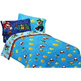 Nintendo 72 by 86-Inch Super Mario Fresh Look Comforter, Twin/Full