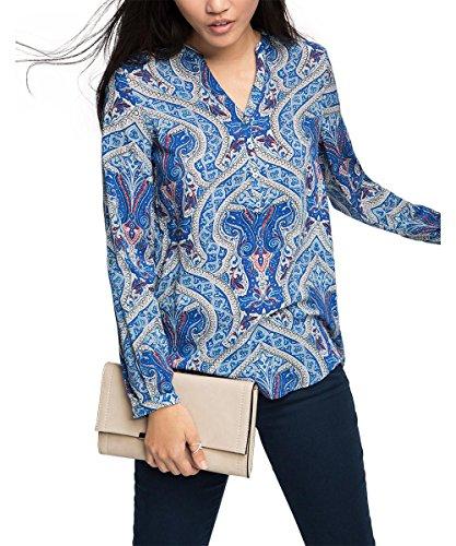 ESPRIT Fluent U Viscos-Camicia Donna    Blu (Ink) 36