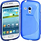Cimo S-Line Back Case Flexible TPU Cover for Samsung Galaxy S III mini - Blue