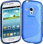 Cimo S-Line Back Case Flexible TPU Cover for Samsung Galaxy S III mini - Blue