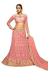 AASVAA Stylish Pink Embroide Lehenga Choli