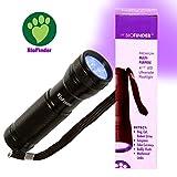 BioFinder UV Urine Black Light Handy Flashlight 12 LED UV Flashlight 395nm. Find stubborn pet stains, hunt scorpions, check for counterfeit money.