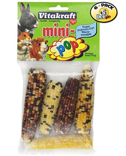 Vitakraft Mini-Pop Small Animal Indian Corn Treats - 6 PACK (Indian Corn Cobs compare prices)