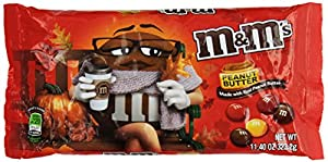 M&M's Harvest Blend Peanut Butter Chocolate Candy, 11.40-Ounce (Pack of 6)