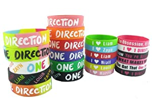 23pcs 1d Bracelet Lot POP Band Silicon Wristband