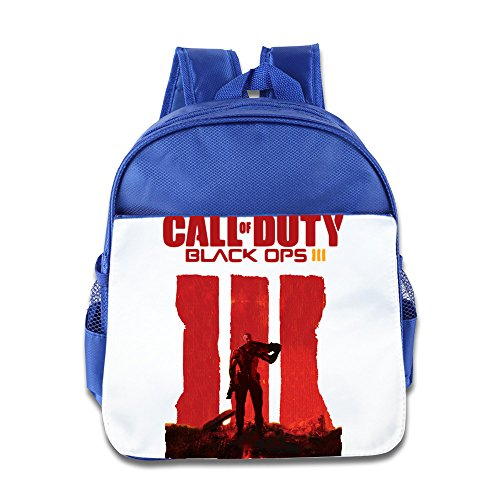 Custom Superb Duty Black Video Game Ops Teenager Schoolbag For 1-6 Years Old RoyalBlue