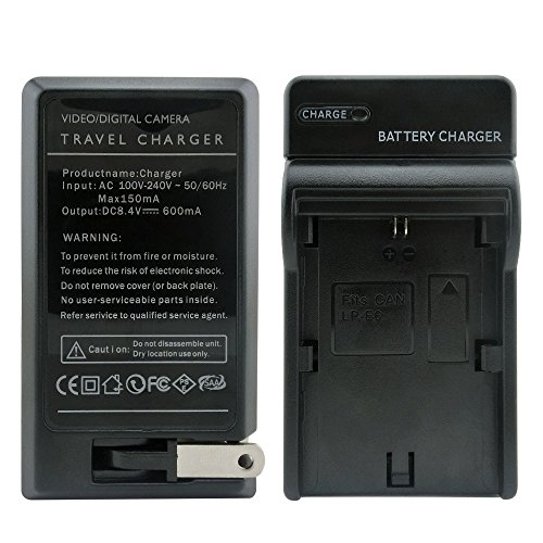 LP Battery charger for Canon LP-E6,Compatible with Canon EOS 6D, 7D, 70D, 60D, 5D Mark III, 5D Mark II, 60DA DSLR Cameras (Canon 5d Mark Ii Battery Charger compare prices)