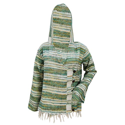 Wool Blend Poncho With Hood White Winter Wear Boho Women Wear Plus Size