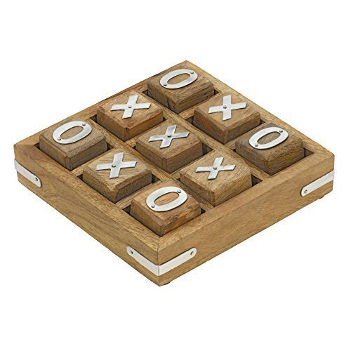 Handmade Wooden Tic Tac Toe Game for Kids 7 and Up - Great Gifts for Kids for All Occasions (Tic Tac Toe Game compare prices)