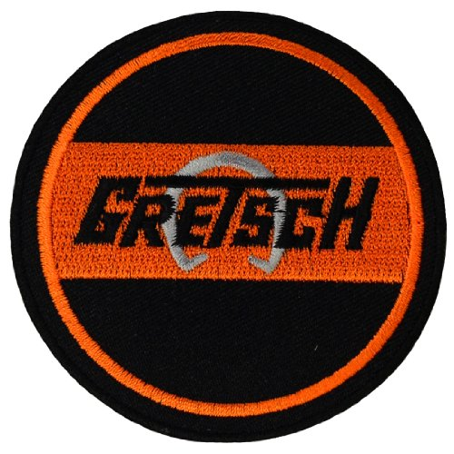 [Gretsch Guitar Music band Logo Embroidered Iron Patches] (Wood Boo Sign)