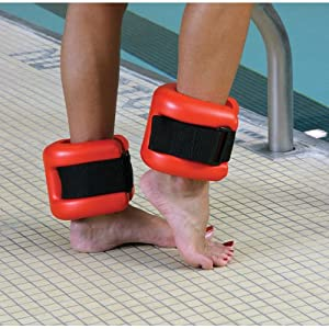 Aqua fit ankle cuffs for swimming pool - Exercise equipment for swimming pools ...
