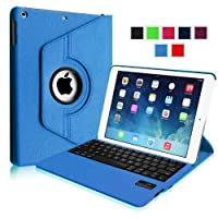 Fintie Apple iPad Air Case - 360 Degree Rotating Detachable Bluetooth Keyboard Case Cover with Auto Sleep / Wake Feature for iPad Air / iPad 5 (5th Generation) - Blue by Fintie