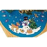 "Janlynn Frosty's Favorite Ornament Tree Skirt Felt Applique Kit: 45"" Round"