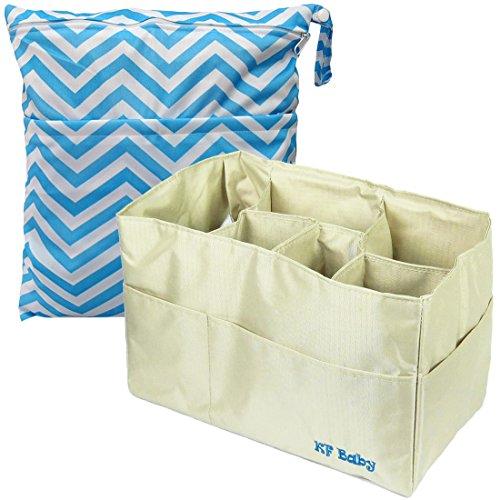 kf-baby-diaper-bag-insert-organizer-12-khaki-diaper-wet-dry-bag-value-combo