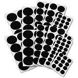 Junipers Assorted Furniture Felt Floor Protector Pads, Pack of 152 - Black