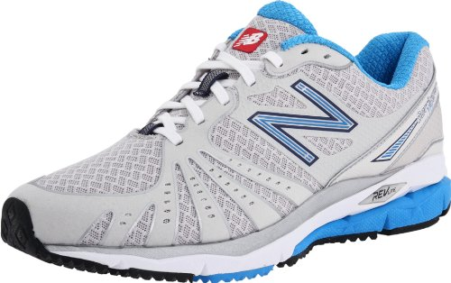 New Balance Women's WR890 Running Shoe,Silver/Blue,10 B (M) US
