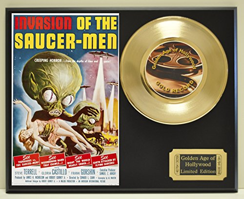 Invasion of the Saucer-Men Limited Edition Gold 45 Record Display. Only 500 made. Limited quanities. FREE US SHIPPING