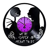 A-Nightmare-Before-Christmas-HANDMADE-Vinyl-Record-Wall-Clock-Get-unique-nursery-wall-decor-Gift-ideas-for-boys-girlskids-Unique-Walt-Disney-Art-Leave-us-a-feedback-and-win-your-custom-clock