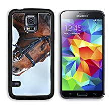buy Msd Samsung Galaxy S5 Aluminum Plate Bumper Snap Case Brown Stallion Portrait Of A Sports Brown Horse Riding On A Horse Thoroughbred Image 23816266