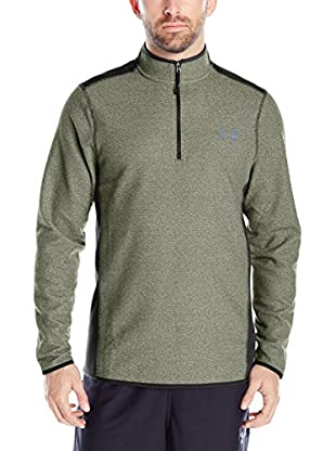 Under Armour Camiseta Técnica The Cgi Fleece 1/4 Zip (Verde)