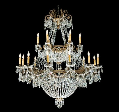 Savoy House 2-598601-18-165 Alexander Collection 18-Light Chandelier, Bright Antique Bronze Finish with Crystal Accents