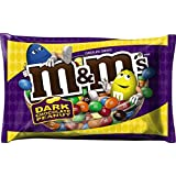 M&M's Dark Chocolate Peanut Candy, 19.2 Ounce Bag (Pack of 4)