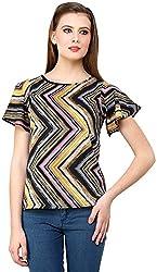 ShilpKala Women's Half Sleeve Top (skt3021m, Multi-colour, Medium)