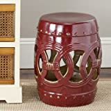 Double Coin Stool Seat Colour: Red