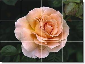 Flower Picture Ceramic Tile Mural F266. 24x32 Inches Using (12) 8x8 ceramic tiles.