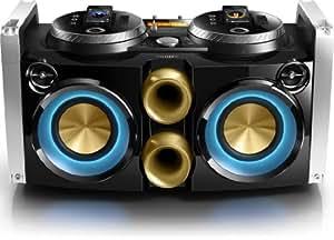 Philips FWP3200D/12 Kompaktanlage, Docking-Partymaschine für iPhone/iPod mit 2-Wege und Bassreflex (300 W, USB-Host, MP3-Link) schwarz