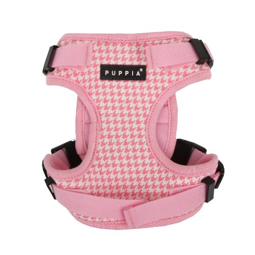 Puppia Authentic Neogen Safety Pet Harness, Small, Pink front-348608