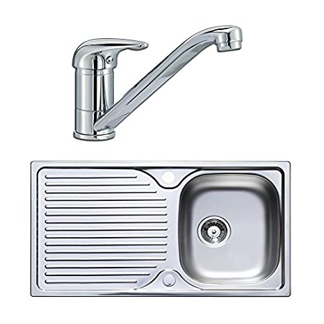 Astracast Quality Stainless Steel 1.0 Single Bowl Kitchen Sink & Lever Tap Pack by Astracast