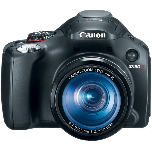 51tAAPi3vQL Canon SX30IS 14.1MP Digital Camera with 35x Wide Angle Optical Image Stabilized Zoom and 2.7 Inch Wide LCD