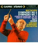 Beethoven : Symphonies n° 5 et n° 7 - Ouvertures de Coriolan et de Fidelio