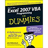 Excel 2007 VBA Programming For Dummiesby John Walkenbach