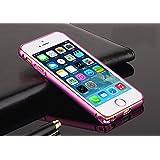 esorio® Apple iPhone 5 / 5S Aluminium Bumper Case Hülle Rahmen Alu Gehäuse - 100% Geld-zurück-Garantie // purple