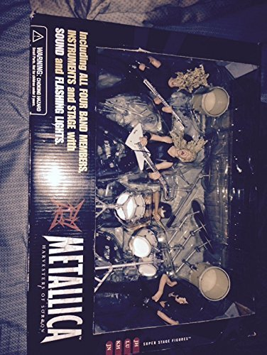 Metallica Harvesters of Sorrow Super Stage Figures ENTIRE BAND - James Hetfield, Kirk Hammett, Jason Newsted, Lars Ulrich by McFarlane Toys