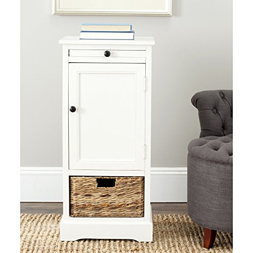 Safavieh American Home Collection Newburgh Tall Storage Table, Distressed Cream (Cabinet Cream compare prices)
